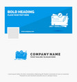 blue business logo template for game map mission vector image