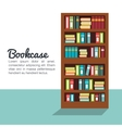 bookcase isolated design vector image vector image