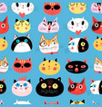 Bright seamless pattern of multi-colored