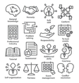 Business management icons in line style Pack 22 vector image vector image