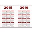 Calendar 2015 2016 vector image vector image