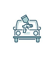 car painting concept colored icon vector image vector image