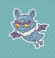 cartoon funny bat vector image