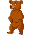 Cartoon funny bear standing vector image vector image