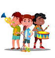 children ensemble children play musical vector image