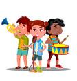 children ensemble play musical vector image vector image