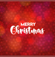 christmas card design with elegant design and red vector image vector image
