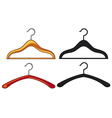 clothes hangers collection vector image vector image