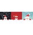 collection christmas santa vector image vector image