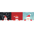 collection of christmas of santa vector image vector image