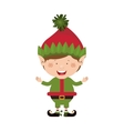 color image with christmas gnome boy vector image vector image