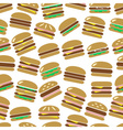 colorful hamburgers types fast food modern simple vector image vector image