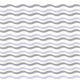 cute gray wave pattern vector image vector image