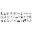 danger drugs doodle set vector image vector image