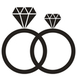 Diamond Ring icon vector image vector image