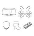 earrings costume jewelry briefs and other vector image vector image
