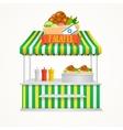 Falafel Street Market vector image