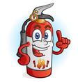 fire extinguisher cartoon character vector image vector image