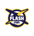 flash lightning storm logo template company vector image