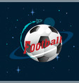football planet design space background ima vector image vector image