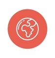 Globe thin line icon vector image vector image