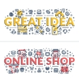 great idea and online shop headings titles vector image