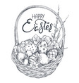 hand drawn ornate eggs and vector image vector image
