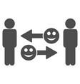 happy emotion exchange people flat icon vector image