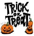 happy halloween trick or treat flyer template vector image vector image