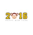 happy new 2016 year monkey vector image