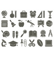Icons on the theme of school and education vector image vector image