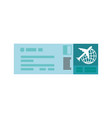 isolated airplane ticket vector image vector image