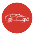 line art style car icon vector image vector image