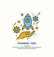 linear poster of business idea vector image vector image