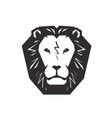 lion logo animal wildlife symbol or icon vector image