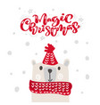 magic christmas calligraphy lettering text xmas vector image vector image