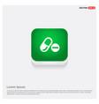 medicine symbol icon green web button vector image