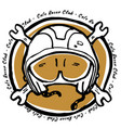 moto biker theme icon cafe racer golden white vector image vector image