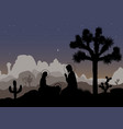 nativity scene and mexican night landscape saint vector image vector image