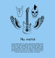 nu metal music poster vector image vector image