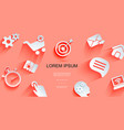 paper web elements background vector image