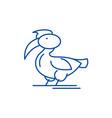 pelican line icon concept pelican flat vector image
