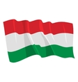 political waving flag of hungary vector image vector image
