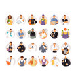 portraits of people of different professions vector image vector image