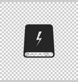 power bank icon isolated portable charging device vector image vector image