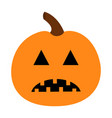 pumpkin happy halloween funny creepy sad face vector image vector image
