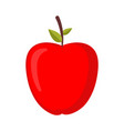 red apple isolated ripe fresh juicy fruit vector image