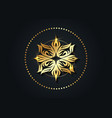 round luxury logo mandala vintage gold floral sign vector image vector image