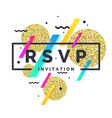 rsvp invitation template for the event vector image