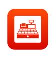 sale cash register icon digital red vector image vector image